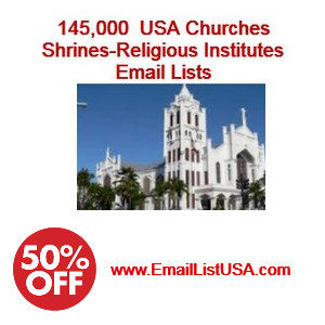 Churches email list usa