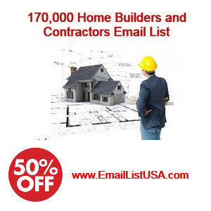 home builders contractors email list