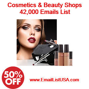 cosmetics beauty shops email list