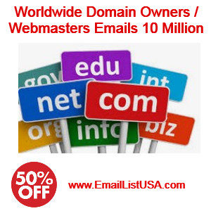 domain owners email list webmasters email list website owners email list