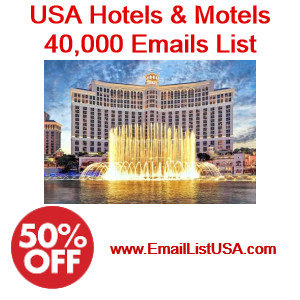 usa hotels and motels email list