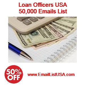 loan officers email list mortgage email list