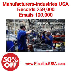 manufacturers email list industries email list