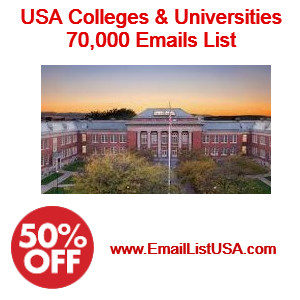 usa colleges universities email list