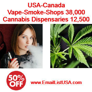 smoke vaspe shop email list cannabis email list